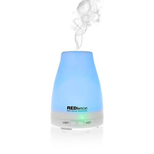 Redlemon Humidificador y Difusor de Aceites Esenciales, Purificador de Aire con Luces LED de Colores,…