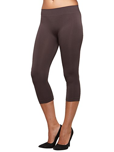 SENSI' Leggings Damen 3/4 Capri Nahtlos Seamless Mikrofaser Made in Italy