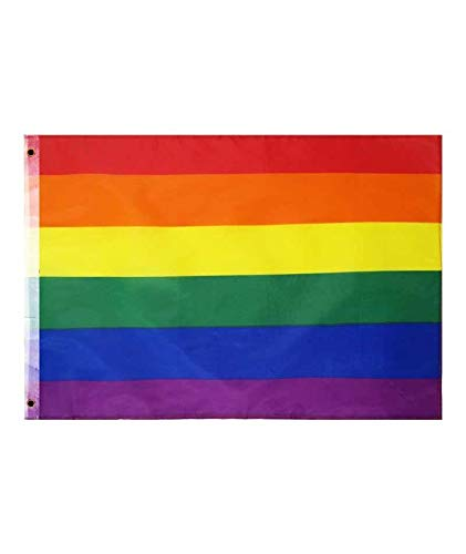 Bandera Orgullo LGBTI Arco Iris Tela Grande 150 x 90 cm Pride Celebración