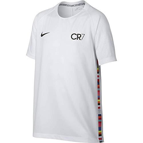 NIKE Camiseta Unisex para niños Dry Cr7 Kids T-Shirt, Unisex niños, AQ3310, White/White/Black/Black, XL
