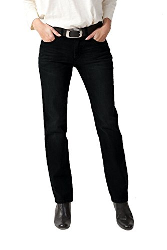 STOOKER Tokio Damen Regular Stretch 5-Pocket Jeans (40 (31/32), Schwarz (6999))