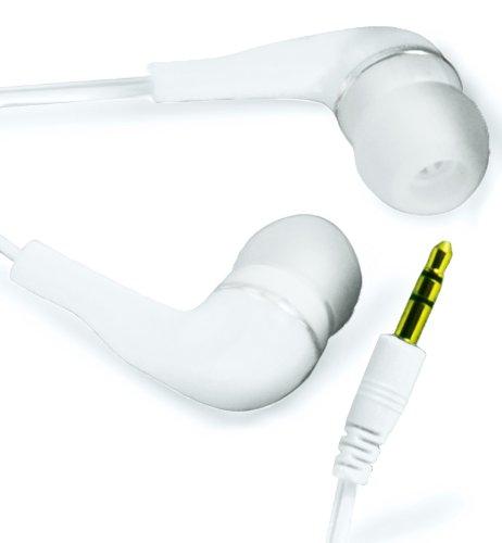 N4U ONLINE Weiss Hohe Qualität 3.5MM EARBUD EARPHONES Kopfhörer Headset Stöpsel Für ORANGE MONTE CARLO ZTE SKATE V960