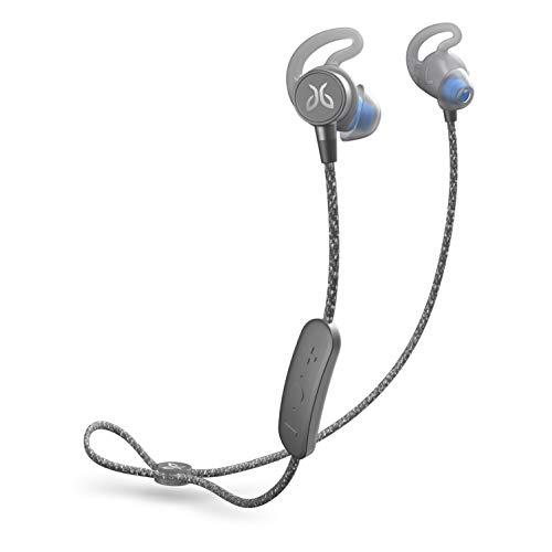 Jaybird Tarah Pro Kabellose In-Ear Kopfhörer mit Mikrofon, Bluetooth, Schweißbeständig und Wasserdicht, 14-Stunden Akkulaufzeit, Silikon-Gelkissen, Smartphone/Tablet/iOS/Android - Grau/Blau