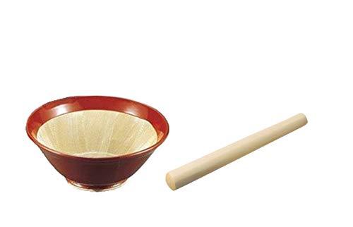 ヤマキイカイ(Yamakiikai) すり鉢6号 すり棒6号 セット 常滑焼 径19×高さ7.5cm K52+G1762