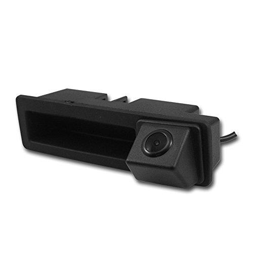 Misayaee Caméra de Recul Voiture en Couleur Kit Caméra vue arrière de voiture Imperméable Vision Nocturne pour Audi A6L/Q7/A3 8P 8V /A4 B6 B7/A6L/8E /S5