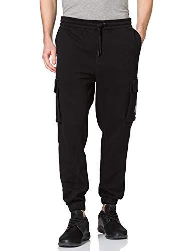 Calvin Klein Jeans Cargo Badge Fleece Pant Chándal, CK Negro, XL para Hombre