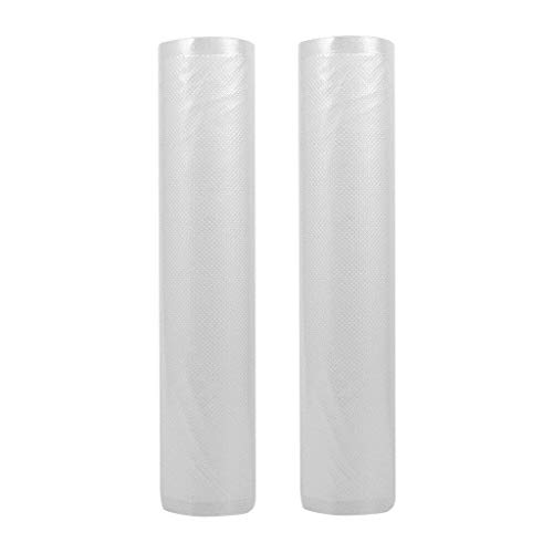 NXDA Vacuum Sealer Bags 2 Rolls 28X500cm FoodSaver Heavy Duty Commercial Grade Bag Rolls Food Storage Bag Fruit Veg Fresh Meal Prep or Sous Vide