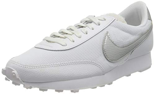 Nike Daybreak, Chaussure de Piste d'athltisme Femme, White White Metallic Silver, 37.5 EU