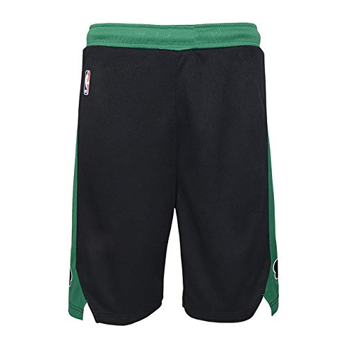 NBA Boys Kids 4-7 Official Team Color Icon Edition Basketball Shorts (Boston Celtics Statement Edition Black, Kids 7)