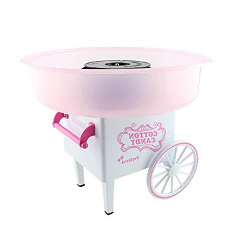 Mini Wagen Zuckerwattemaschine, Zuckerwattegerät Kinder DIY Werkzeug, Kindergeburtstagsfeier Party, Jungen Mädchen Geburtstagsgeschenk Pink-EU plug