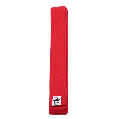 Idiytip Professioneller Taekwondo Gürtel Karate Judo Double Wrap Kampfkunst Streifen Sport Gürtel Rot Gürtel 250 Cm