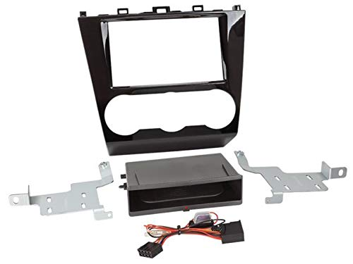 Kit Facade autoradio 2DIN pour Subaru Forester ap15 Avec vide poche Inbay Noir brillant ADNAuto