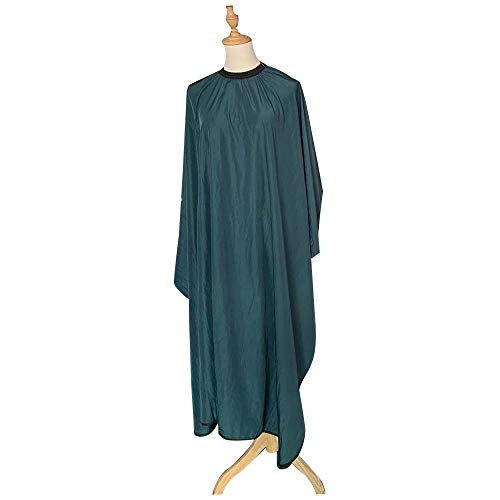 Z.L.FFLZ Barber Cap Antistatic Salon de Coiffure Hair Dressing Cape Robe Manches Longues en Tissu Coiffure Salon imperméable Coupe du Cap Salon Cap (Color : Green Hair Cape, Size : Libre)