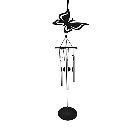 WLEYYY Wind klokken 1 st Zwart Handgemaakte Mooie Wind Chime Ring Decoratie Handicraft voor Windows Deuren Kamers