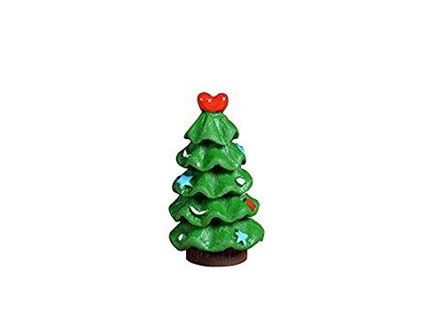 素敵な ミニチュアモスマイクロ風景ミニクリスマスツリーオーナメントクリエイティブDIY屋外ガーデンデコレーションホームベストグリーンプラントギフト(グリーン)