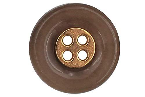 Boutons 6 deux trous Boutons 12 mm marron légèrement opalescente