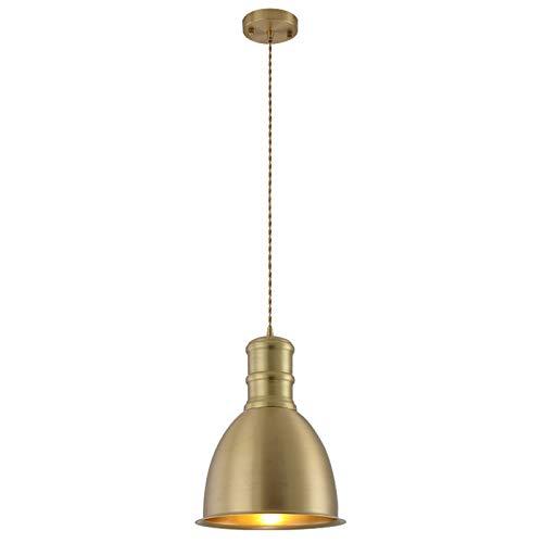 Lámpara de araña, fuente de luz LED, ventana de barra de restaurante simple, sola cabeza creativa lámpara de cobre [Clase energética A +]
