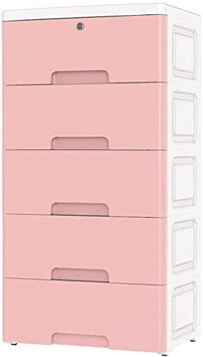 Armari portátil Caja de Almacenamiento Multi-Capa Cajón de plástico Gabinete de Almacenamiento Ropa Mueble de Almacenamiento Rosa guardarropa Closet Liuyu.