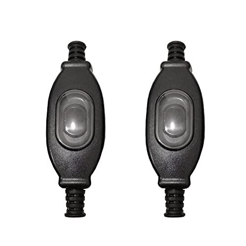JZK 2 x Caja De Conexiones Negro Interruptor Intermedio Lámpara Cable Interruptor AC 250V 3A para Pequeño Electrodoméstico o Lámpara