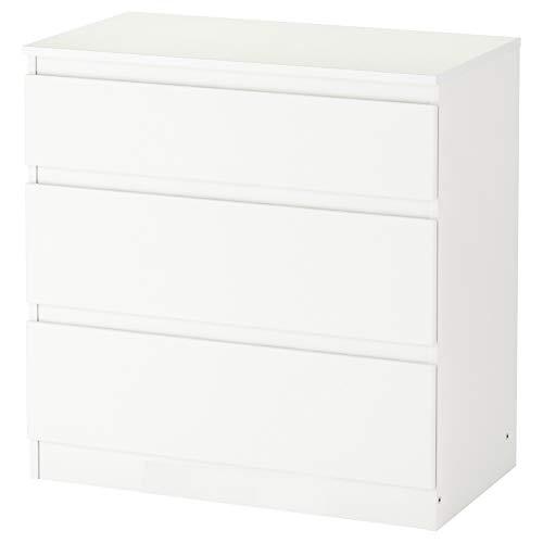 Ikea Asia Kullen Cómoda con 3 cajones de color blanco