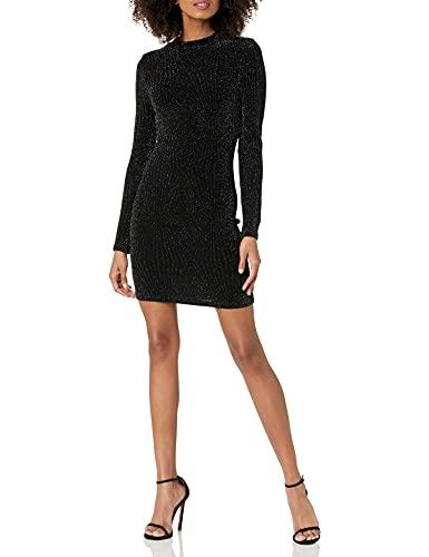 Speechless Women's Bodycon Glitter Dress, Black/Silver, Small