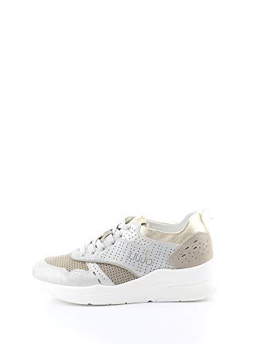 Liu Jo BA007 PX056 Zapatillas Mujer Plata 38