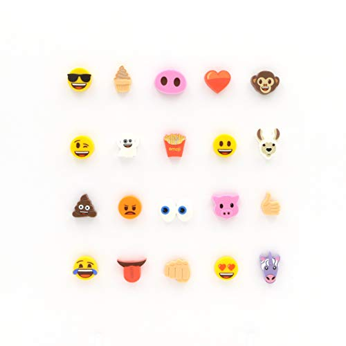 Emoji Collectable Shoe Lace Charms Pack of 3