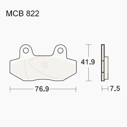 BREMSBELÄGE STANDARD TRW LUC vorn MCB822 E-Tropolis Retro 0