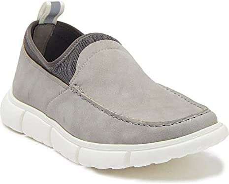 Marc New York Stretch Sock Slip-On Loafer Grey