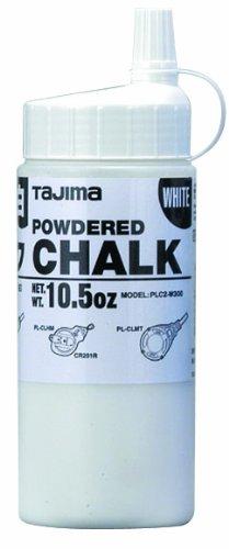 TAJIMA Micro Chalk - White 10.5 oz (300g) Ultra-Fine Snap-Line Chalk with Durable Bottle & Easy-Fill Nozzle - PLC2-W300