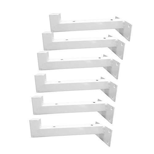 Regalhalterung, Regalträger, 4Pcs Schwerlastträger, Wandkonsole, Eisen Gestell Unterstützung, Regalstützen, Weiß