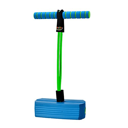 JOYIN Toy Foam Pogo Jumper for Kids and Toddlers in Easy to Carry Zippered Bag- Safe and Fun Pogo Stick, 250 Pound Capacity (Blue)