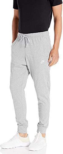 Nike M NSW Club JGGR JSY Pantalon de Sport Homme DK Grey Heather/(White) FR: L (Taille Fabricant: L)