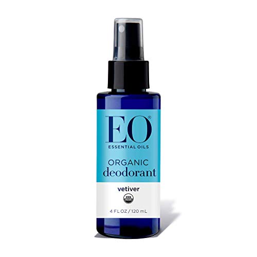 EO Products Deodorant Spray, Vetiver (pack of 2)