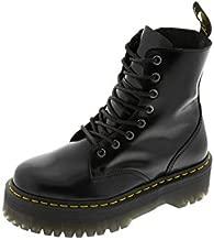 Dr. Martens, Jadon 8-Eye Leather Platform Boot for Men and Women, Black Polished Smooth, 7 US Women/6 US Men