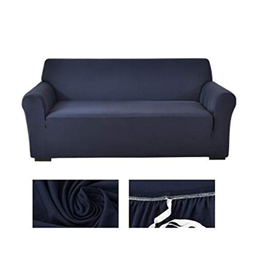 Solid color corner sofa covers for living room elastic spandex slipcovers couch cover stretch sofa towel L shape need buy 2piece (Color : 10, Specification : 1 seat sofa)