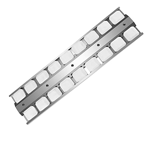 """BEJILA Grill Briquette Tray ,Stainless Steel Heat Plate Gas Replaces for Viking Part 032381-000, 032370-000 Replacement, Heavy Duty Burner Cover Flame Tamer, BBQ Repair Kit, 21-1/2"""" X 5-1/2"""""""