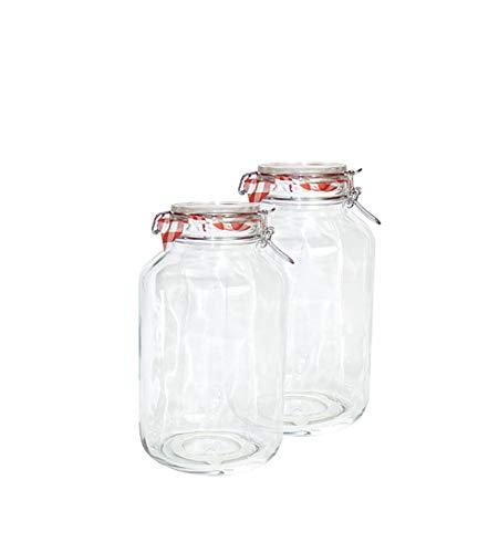 Bormiolisde 2er Set Einmachglas Bügelverschluss Original Fido 4,0L
