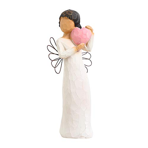 Memorial Angel-Hand-Painted Puppet-Character Sculpture, Express Love, Recovery, Hope, Can Be Placed in The Wine Cabinet, Bedroom, Giving The Best Gift (Angel Love 520)