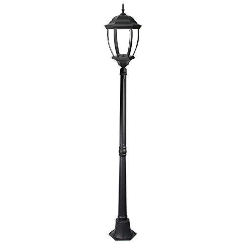 Farola LED de jardín IP44, modelo NewYork, 180 cm, bombilla E27, 30 W, rendimiento 200 W, 2700 lm
