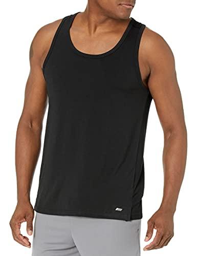 Amazon Essentials Men's Performance Cotton Tank Top Shirt, Black, X-Large