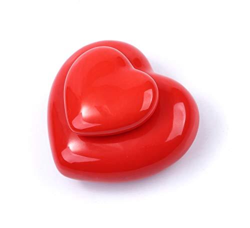 Urna para cenizas humanas, hecha a mano en forma de corazón con corazón, con una pequeña urna de cerámica de 54 cm