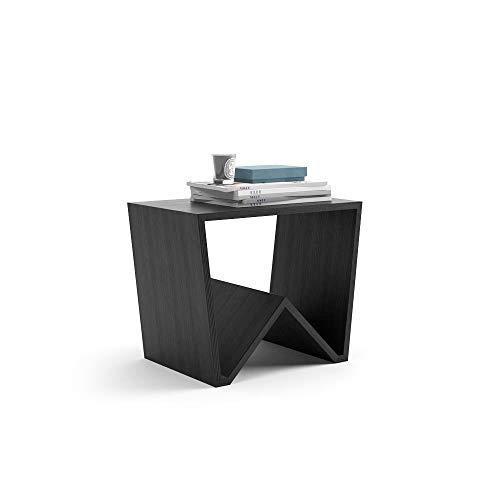 Mobili Fiver, Tavolino da Salotto Emma, Frassino Nero, 50 x 33 x 40 cm, Nobilitato, Made in Italy