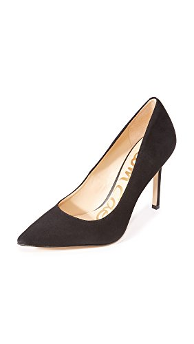Sam Edelman Women's Classic Hazel Pump, Black Suede, 6 Narrow US
