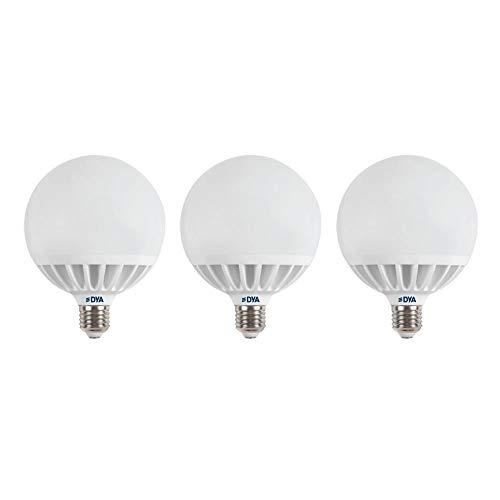 Juego de 3 bombillas LED Globo, 24 W, 2640 lúmenes, alta potencia