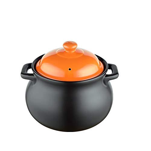 ZWMG Olla de cazuela Cazuela de cerámica con Mango Dual y Cubierta Cacerola Multifuncional Cocina Cocina Pote Casserole Resistente a Alta Temperatura Ronda (Size : A)