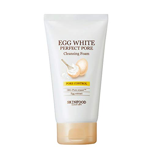 SKIN FOOD Egg White Perfect Pore Cleansing Foam 5.07 oz. (150ml) - Egg Yolk, Albumin Contained...