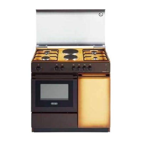 Cucina a gas con forno elettrico, N° 4 Fuochi + 2 Piastre, 86x50 cm, colore Coppertone SEK 8542 N ED