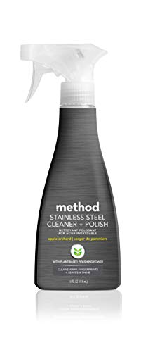 Method Stainless Steel Cleaner + Polish, Apple Orchard, 14 Ounces, 1 pack, Packaging May Vary