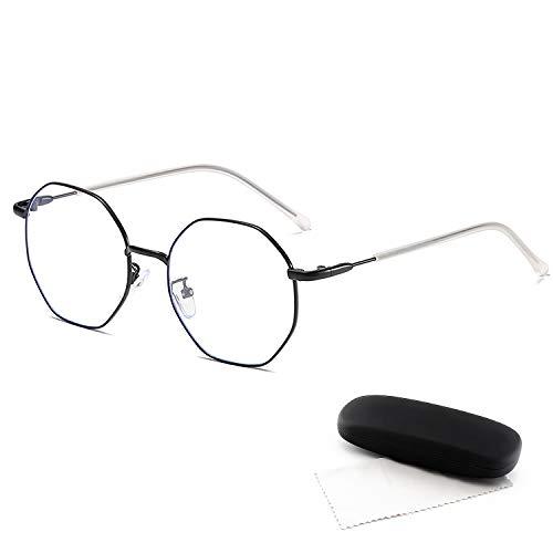 DUDUKING ohne Sehstärke Blaulichtfilter Brille Computerbrille Metallgestell Brillen blendfrei kratzfest für Damen und Herren Uv Blockieren Blaue Licht PC Brille